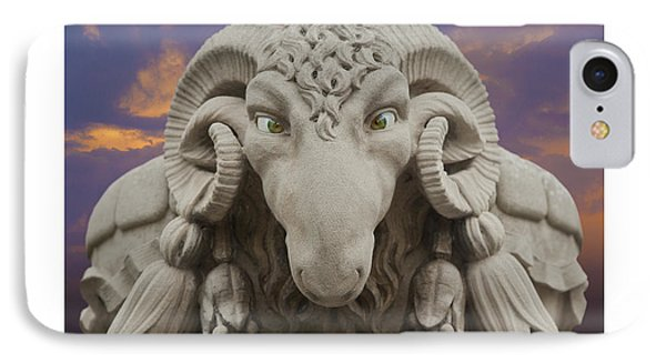 IPhone Case featuring the digital art Ram A Sees Naturally Stoned Poster by David Davies