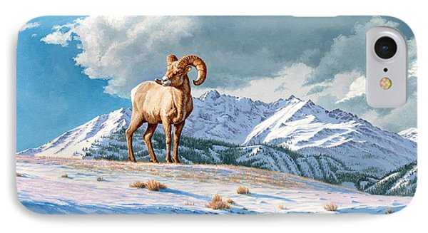 Ram And Electric Peak IPhone Case by Paul Krapf