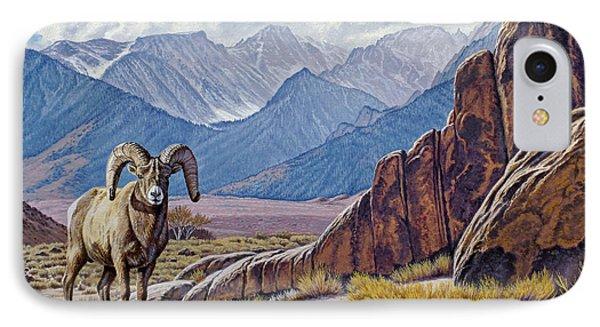 Ram-eastern Sierra IPhone Case by Paul Krapf
