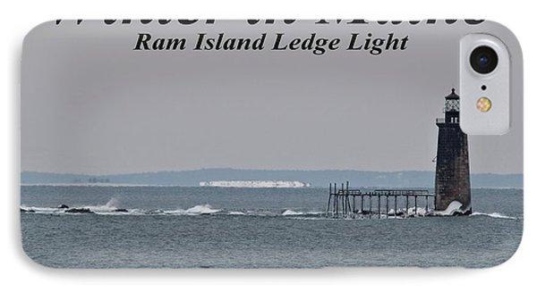 Ram Island Ledge Light_9941 IPhone Case by Joseph Marquis
