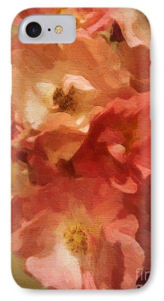 IPhone Case featuring the digital art Ramblin Rose Memories by Lianne Schneider
