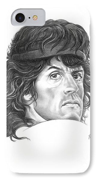 Rambo-sylvester-stallone IPhone Case by Murphy Elliott