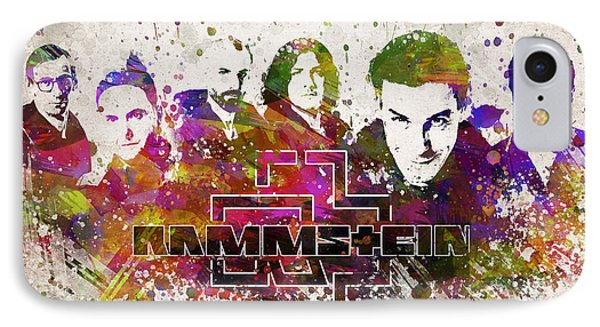 Rammstein In Color IPhone Case by Aged Pixel