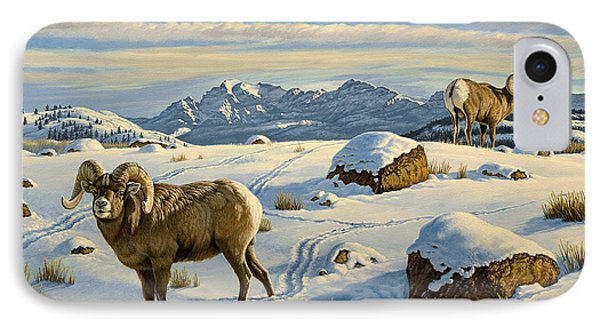 Rams Down From Junction Butte IPhone Case by Paul Krapf