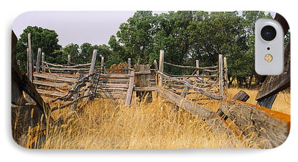 Ranch Cattle Chute In A Field, North IPhone Case by Panoramic Images