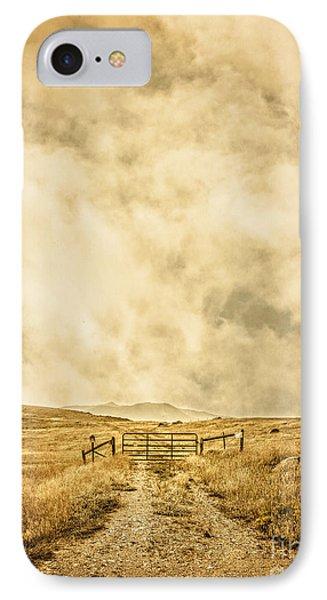 Ranch Gate Phone Case by Edward Fielding