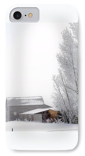 Ranch In Frozen Fog IPhone Case by Kae Cheatham