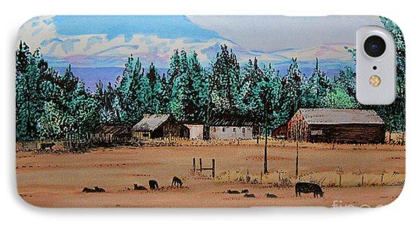 Ranch Near Sisters Oregon IPhone Case by Joseph Juvenal