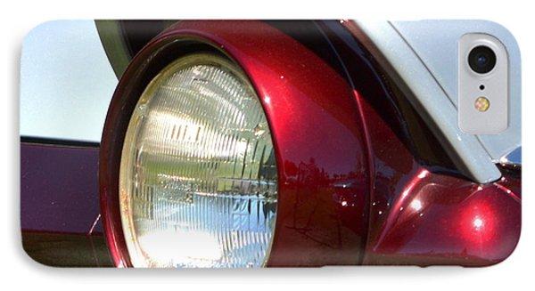 Ranch Wagon Headlight IPhone Case by Dean Ferreira