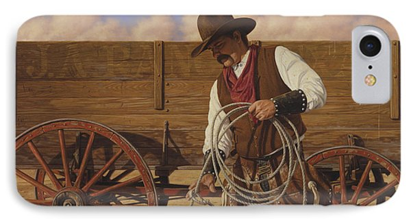 IPhone Case featuring the painting Ranch Wagon by Ron Crabb