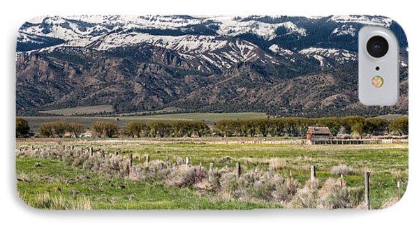 Ranching In Modoc Phone Case by Kathleen Bishop