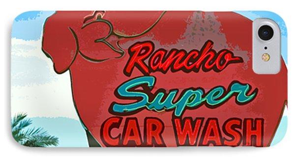 Rancho Super Car Wash Phone Case by Charlette Miller