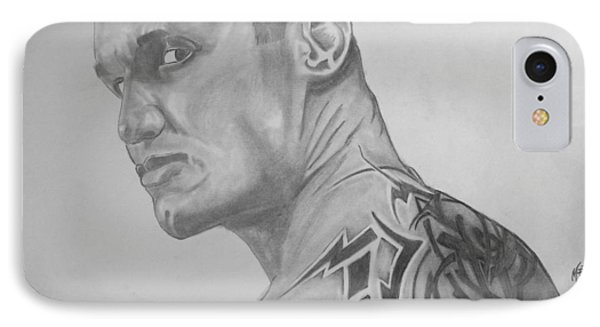 IPhone Case featuring the drawing Randy Orton by Justin Moore
