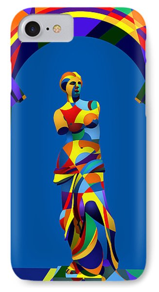 IPhone Case featuring the digital art Randy's Venus Blue by Randall Henrie