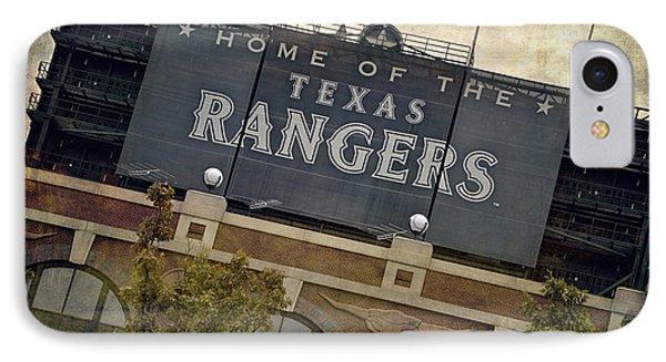 Rangers Ballpark In Arlington Color Phone Case by Joan Carroll