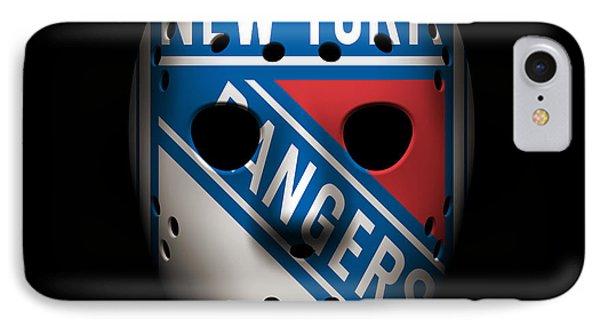 Rangers Goalie Mask IPhone Case