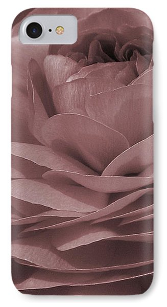 IPhone Case featuring the photograph Ranunculus Red by Jean OKeeffe Macro Abundance Art