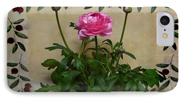 Ranunculus  Still Life. IPhone Case by Terence Davis