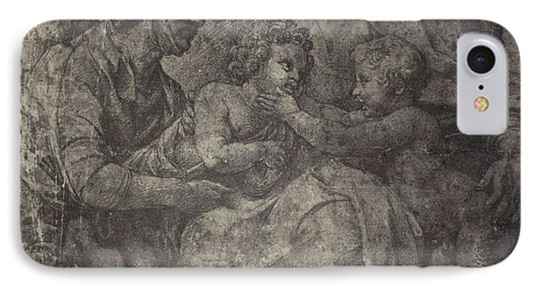 Raphael Drawing From Windsor Castle, Mary With Jesus IPhone Case