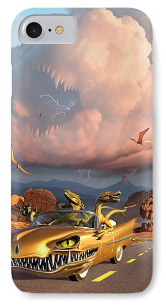 Dinosaur iPhone 7 Case - Rapt Patrol by Jerry LoFaro