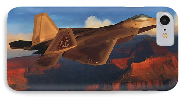 Raptor Over Grand Canyon IPhone Case