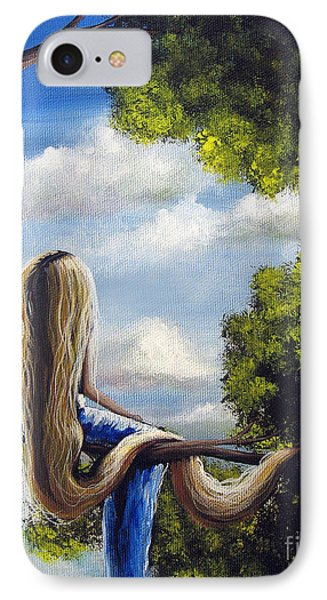 Rapunzel Original Artwork From My Acrylic Painting IPhone Case