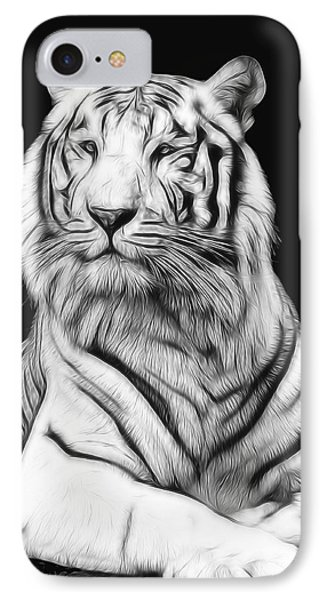 White Tiger IPhone Case by Daniel Hagerman