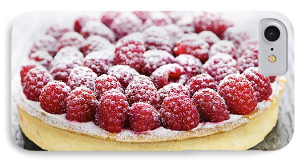 Raspberry iPhone 7 Case - Raspberry Tart by Elena Elisseeva