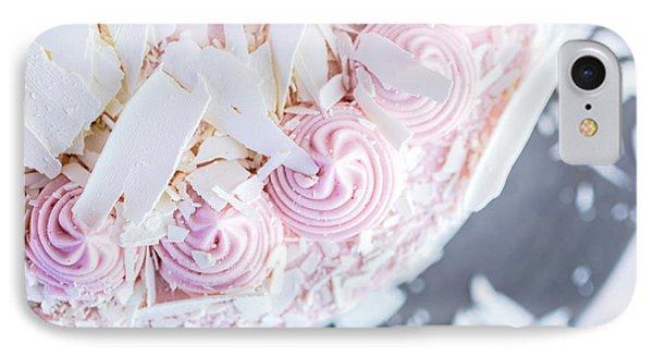 Raspberry White Chocolate Cake IPhone Case by Edward Fielding