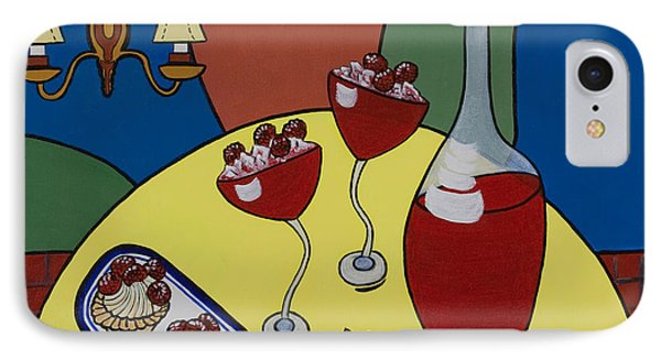IPhone Case featuring the painting Raspberry Wine by Barbara McMahon