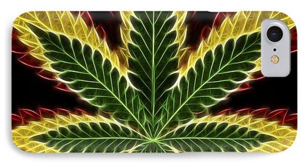 Rasta Marijuana Phone Case by Adam Romanowicz