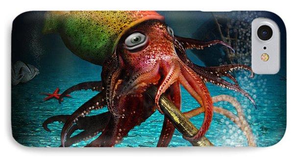 Rasta Squid Phone Case by Alessandro Della Pietra