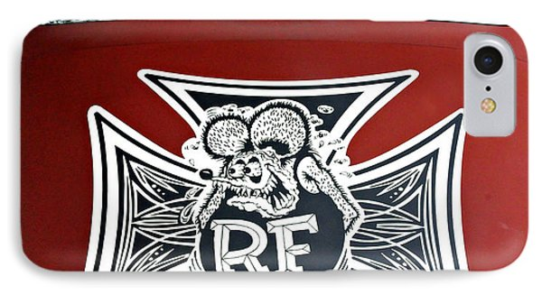 Rat Fink Big Daddy Roth IPhone Case by Dave Mills