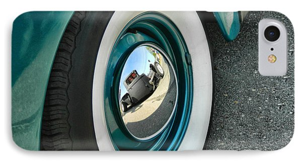 IPhone Case featuring the photograph Rat Rod Reflection by Victor Montgomery