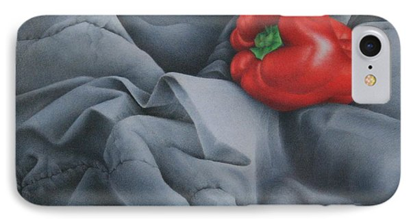 IPhone Case featuring the painting Rather Red by Pamela Clements