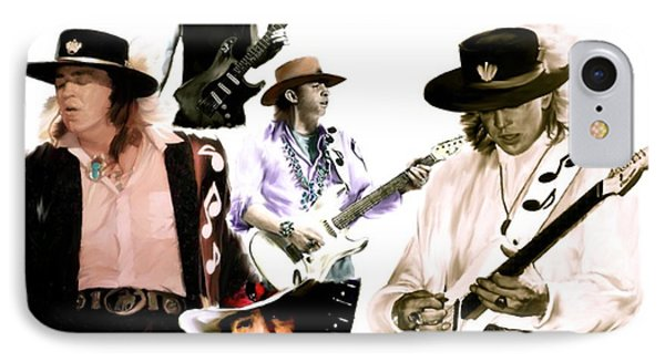 Rave On  Stevie Ray Vaughan Phone Case by Iconic Images Art Gallery David Pucciarelli