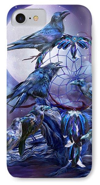 Raven Dreams IPhone Case by Carol Cavalaris