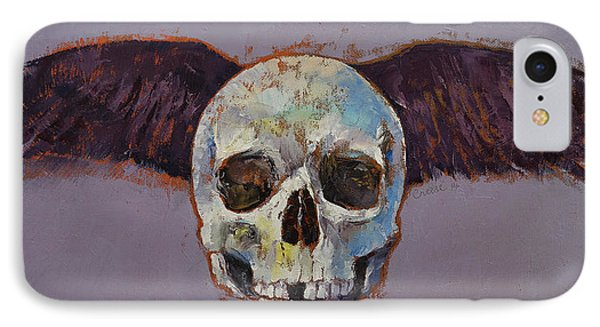 Raven Skull IPhone Case by Michael Creese
