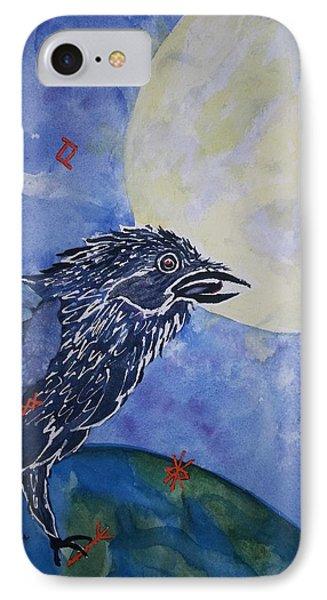 Raven Speak IPhone Case by Ellen Levinson