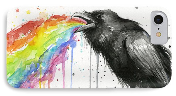 Raven Tastes The Rainbow IPhone Case by Olga Shvartsur
