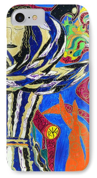 IPhone Case featuring the painting Raven Woman by Clarity Artists