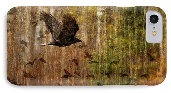 Raven Wood Phone Case by Judy Wood