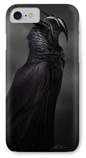 Ravenmech IPhone Case by Alex Ruiz