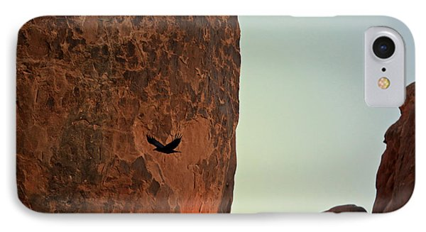 IPhone Case featuring the photograph Raven's Flight by Kate Purdy