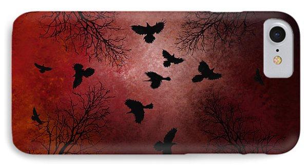Ravens In The Sky IPhone Case