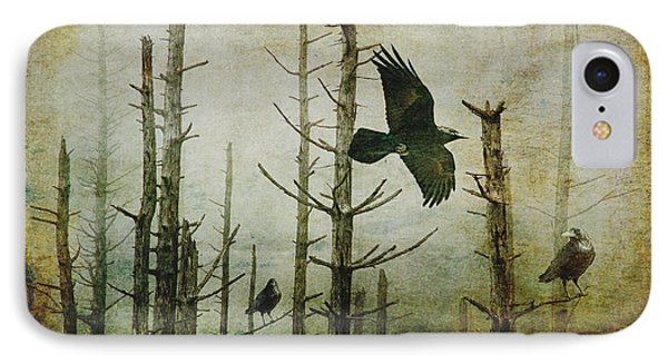 Ravens Of The Mist Artistic Expression Phone Case by Randall Nyhof