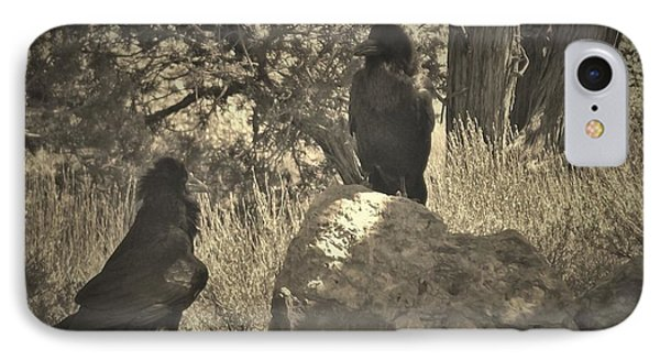 Raven's Squawk IPhone Case by Donna Cook