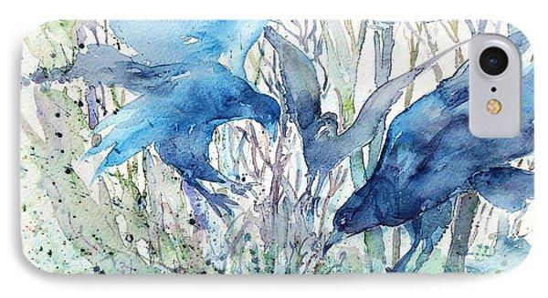 Ravens Wood Phone Case by Trudi Doyle