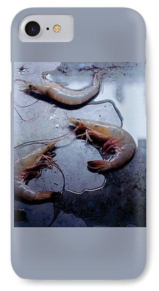 Raw Shrimp IPhone Case by Romulo Yanes
