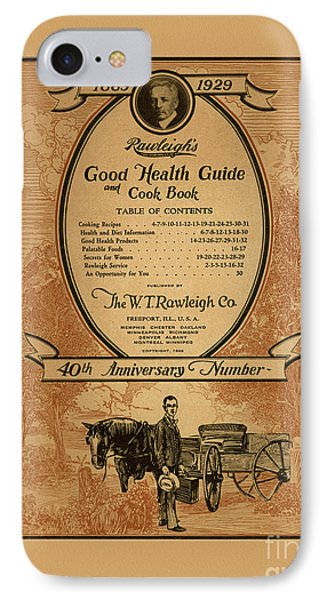 Rawleighs Good Health Guide And Cook Book 1928 IPhone Case by Anne Kitzman